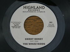 "WHIZZ KIDDS SWEET HONEY / BIG TEASER HIGHLAND orig GARAGE ROCK R&B PSYCH 7"" 45"