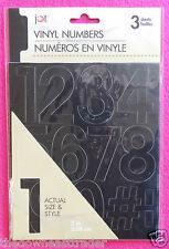 "Numbers & Symbols Durable Black Vinyl Decals/Stickers (- $ #) 39pc 2"" (5.08cm)"