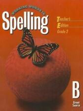 Great Source Working Words in Spelling: Teacher's Edition   (Level B) 1998 by G