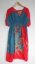 Johnny Was Floral Caftan Dress Multicolor Biya JWLA Love & Liberty Pockets M