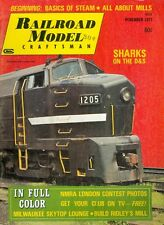 1971 Railroad Model Craftsman Magazine: Sharks on the D&S/Basics of Steam/Mills