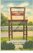 GARDNER, MASSACHUSETTS-CHAIR CITY OF THE WORLD-LINEN-1946(MASS-G)