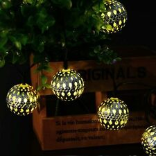 LederTek Solar 10 LED 3.35M Moroccan Ball Lights For Party Outdoor Warm White