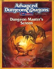 REF1 DUNGEON MASTER'S SCREEN VGC! Master TSR D&D Dungeons Dragons Guide #9263