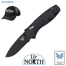 Benchmade 585BK Mini Barrage Spring Assisted Knife Black w/Axis Lock FREE HAT