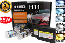 Slim 55W Xenon HID Fog Light Conversion Bulbs Kit 6000K 6K Diamond White H11  W1