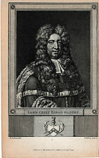 1793 Antique Portrait- Lord Chief Baron Gilbert - English Barrister, Judge, Auth