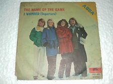 ABBA name of the game DEMO SINGLE PROMO NOT FOR SALE rare INDIA UNIQUE ps 45 7""