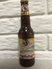 leinenkugels oktoberfest glass beer bottle empty  with cap