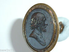 SEAL FOB SHAKESPEARE POET PLAYWRIGHT ACTOR 1564 DIED 1616 VICTORIAN INTAGLIO