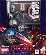 S.H. SH Figuarts Captain America Steve Roger Civil War Action Figure USA Seller