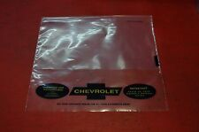 1963 66 OWNERS MANUAL BAG  CORVETTE  CHEVELLE CHEVY II CORVAIR CHEVROLET