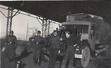 WWII German RP- Army- Soldier- Helmet- Rifle- Overcoat- Motor Pool- Truck- KFZ