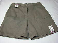 NEW 14 Bill Blass Jeans Ladies Shorts Taupe Brown Grey Cotton Womens Cargo PLEAT