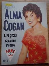 Vtg No 46 Magazine 1958 Fans Star Library Exciting Glamour Photos ALMA COGAN