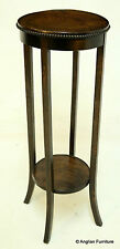 Edwardian 2 Tier Plant Stand Solid Oak 97cm Tall FREE Nationwide Delivery