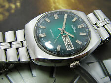 NICE & RARE VINTAGE FORTIS AUTOMATIC GENTS GREEN DIAL.