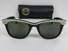 New Vintage B&L Ray Ban Small Wayfarer Street Neat White Mother of Pearl Black