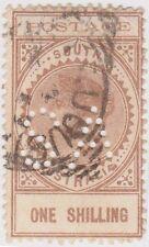 (RJ121) 1902 SA 1/- brown long tom extra thin postage