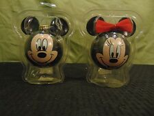 Vintage Disney Unlimited Glass Ornaments Christmas by Krebs Mickey & Minnie