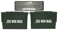 "300 WIN MAG Ammo Box(decals) Two 8""x1.5 One 4""x0.75"" No Box Included"