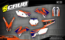 SCRUB KTM SX 85 2006-2012 '06 - '12 Grafik Sticker Dekor-Set