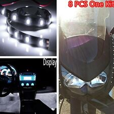 Car Light Strip Interior Atmosphere Footwell Floor Light 15 LED Universal White