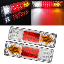 2x 19 LED RV Truck Trailer Rear Tail Brake Reverse Turn Indicator Light Lamp 12V