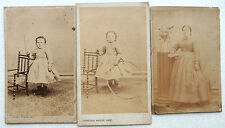 3 CDV PHOTO SECOND EMPIRE 1866 CONSTANT PEIGNE NANTES BERTHE PIGUET ENFANT M851
