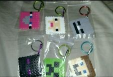 Minecraft keychain-birthday party favor- set of 6 handmade- free shipping