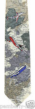 Jet Setter Mens Necktie Airplane Planes Fly Map World Travel Gift Neck Tie New