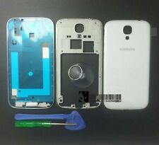 OEM Samsung Galaxy S4 i9500 Full Housing Cover Frame Door Back Case White+Tools