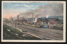 POSTCARD YOUNGSTOWN OHIO CARNEGIE STEEL WORKS FACTORY PLANT Railroad Yard 1910'S