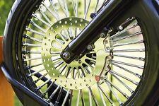 "23"" x 48 Fat King Spoke Front Wheel Kit w/HHI Trees & Metzeler Black Dual Disc"
