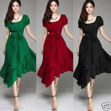 Women Summer Casual Chiffon Boho Evening Party Cocktail Long Dress New Fashion I
