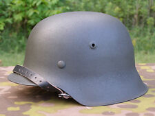Original German WWII Refurbished M42 Helmet Size 66 Shell Size 58 Or 59 Liner