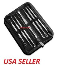 7pcs Blackhead Whitehead Pimple Acne Blemish Extractor Remover Tool Set Kit Blk