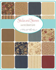 """Sticks N Stones Floral Moda Charm Pack  Quilt Fabric 42 squares  5"""""""