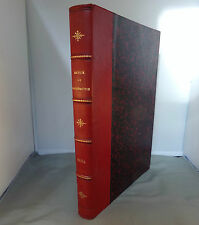 L. DRAPEYRON / REVUE DE GEOGRAPHIE T54 / ALBUM 1904 / RELIURE 1/2 CUIR DELAGRAVE