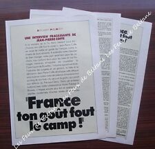 Article France ton gout fout le camp ! interview Jean Pierre Coffe