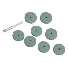 9 Piece 20mm Diameter Grinding Discs Set - 8 x Discs & 1 x 3.1mm Mandrel