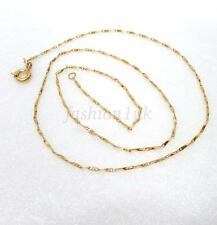 "New 18K Yellow Gold Plated Small 3D Thin Chain Necklace 45cm 17.5 "" Spring Clasp"