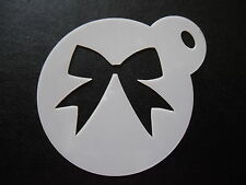 Laser cut small new bow design cake, cookie,craft & face painting stencil