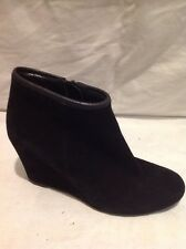 Oasis Black Ankle Suede Boots Size 37