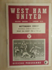 1964/65 Football League WEST HAM UNITED v NOTTINGHAM FOREST - 28th August