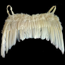 Fancy Dress Straight Angel Wings Halloween Christmas Childs Party White 40x30cm