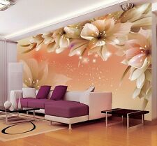 3D Wallpaper Bedroom Mural Roll Modern Luxury Large Flower Wall Background Home