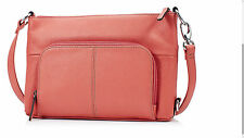Tignanello Heritage Pebble Leather RFID Protection Strawberry Handbag Box6602 U