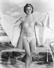 ANNE HEYWOOD BIKINI 8X10 B&W PHOTO CHEESECAKE