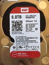 6TB WD Red  NAS Hard Disk Drive SATA 6 Gb/s 64MB Cache 3.5 Inch WD60EFRX